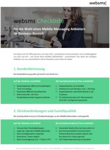 websms Checkliste